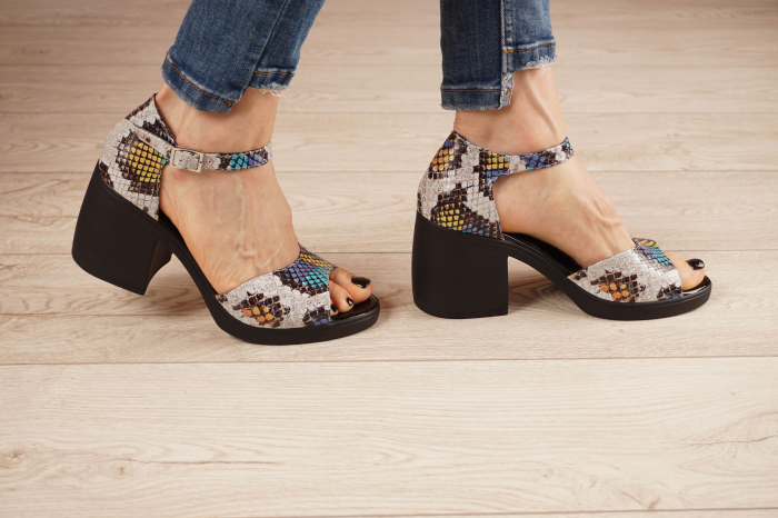 Sandale din piele naturala cu imprimeu MSSD2821-21 [2]