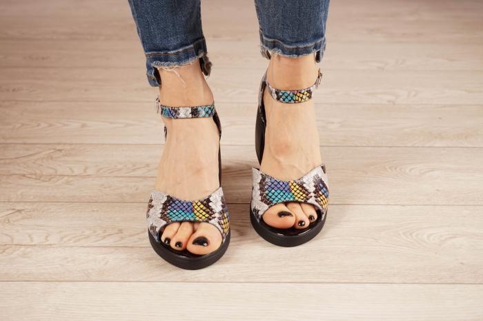 Sandale din piele naturala cu imprimeu MSSD2821-21 [3]