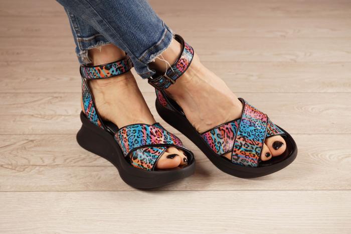 Sandale din piele naturala cu imprimeu MSSD2621-21 [0]