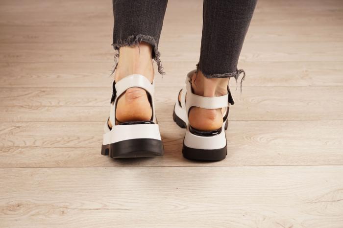 Sandale din piele naturala alba MSSD0821-21 [4]