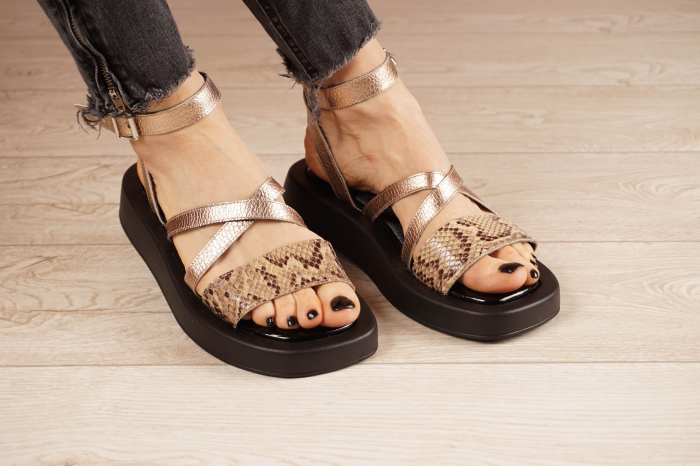 Sandale din piele naturala cu imprimeu MSSD3321-1-21 [0]