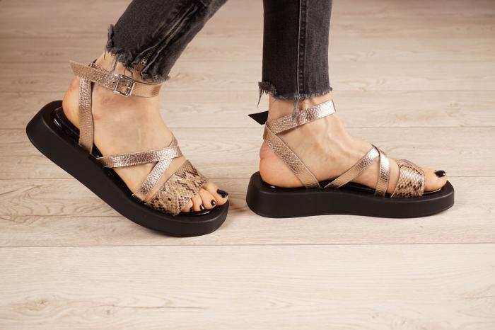 Sandale din piele naturala cu imprimeu MSSD3321-1-21 [2]