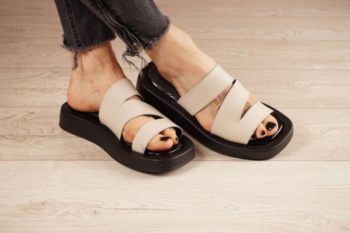 Papuci din piele naturala nude MSSD3221-21 [1]