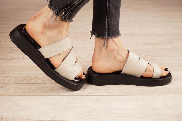 Papuci din piele naturala nude MSSD3221-21 [3]