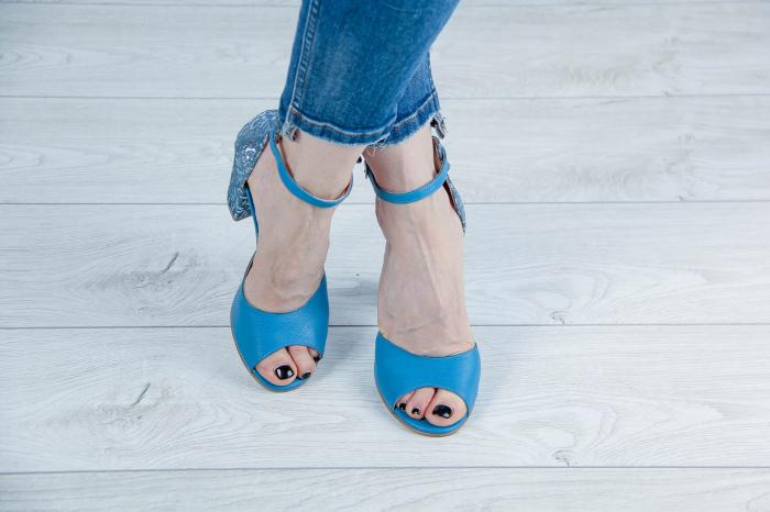 Sandale din piele naturala albastra MSSD15616-20 [1]