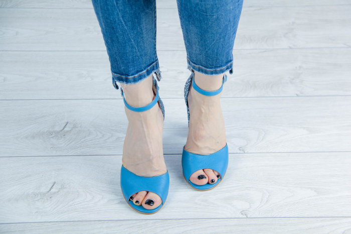Sandale din piele naturala albastra MSSD15616-20 [2]