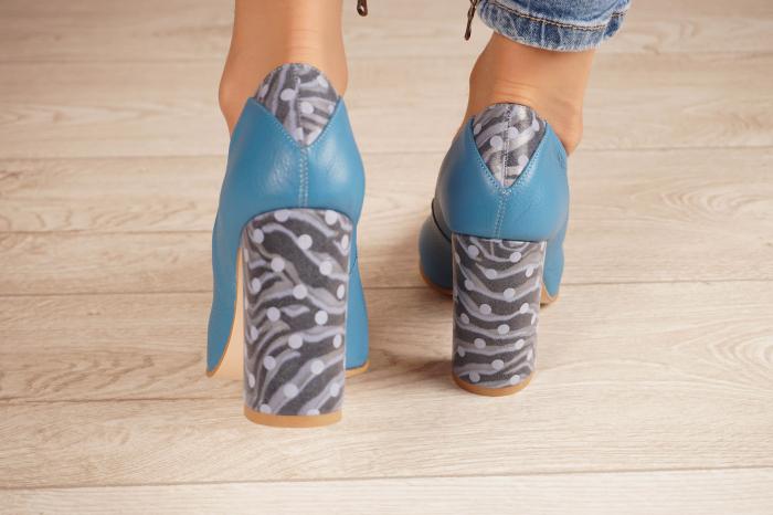 Pantofi dama din piele naturala albastra MSPD50716-1-20 [3]