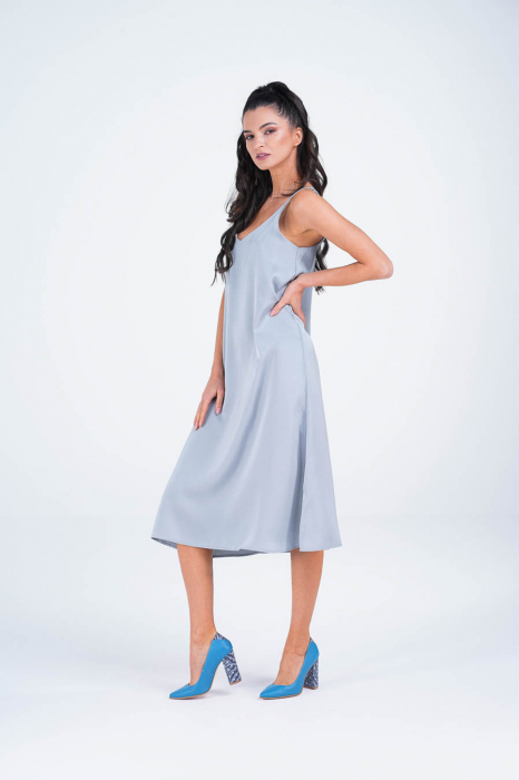 Pantofi dama din piele naturala albastra MSPD50716-1-20 [4]