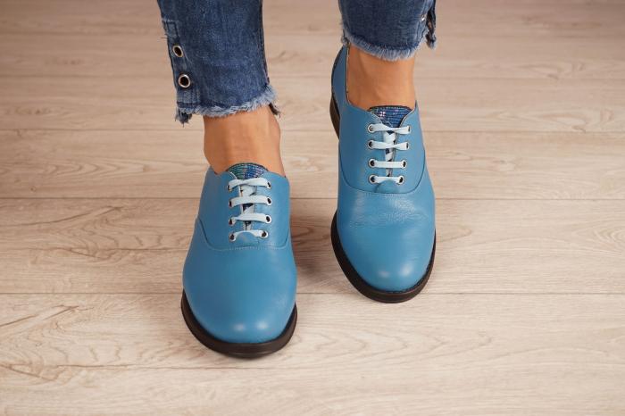 Pantofi dama din piele naturala albastra MSPD52420-1-20 [3]