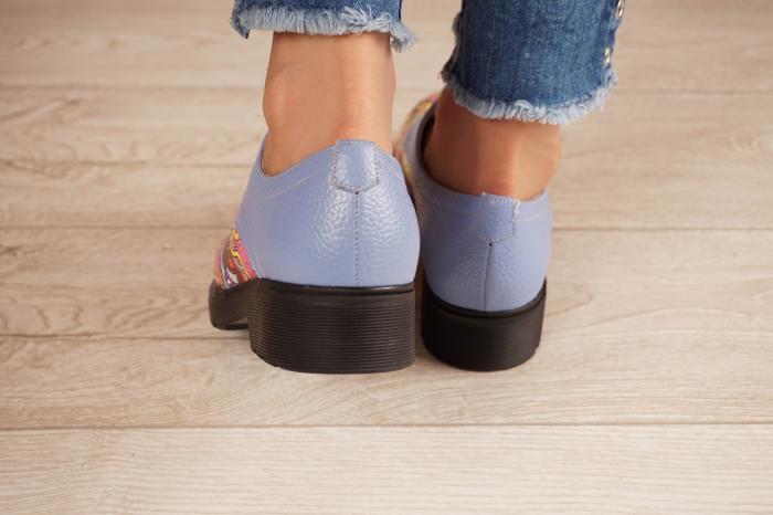 Pantofi dama din piele naturala albastra MSPD53017-8-20 [4]