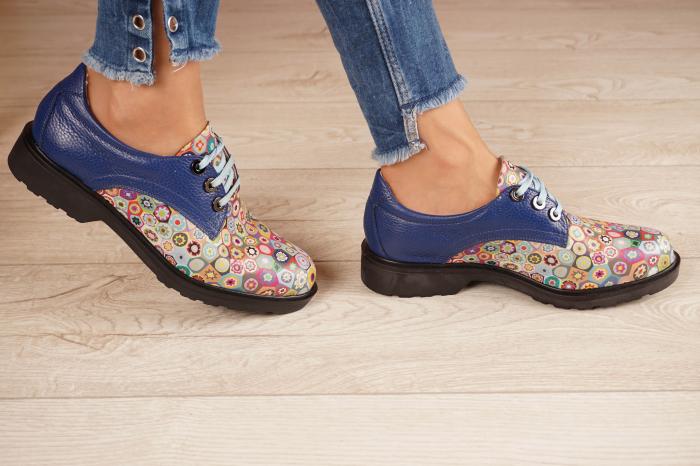 Pantofi dama din piele naturala albastra MSPD56320-2-20 [2]