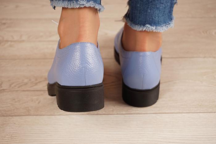 Pantofi dama din piele naturala albastra MSPD61420-20 4
