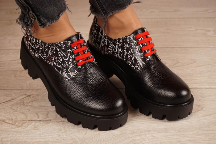 Pantofi dama din piele naturala neagra MSPD53017-17-20 0