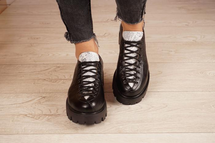 Pantofi dama din piele naturala neagra MSPD60120-20 [3]
