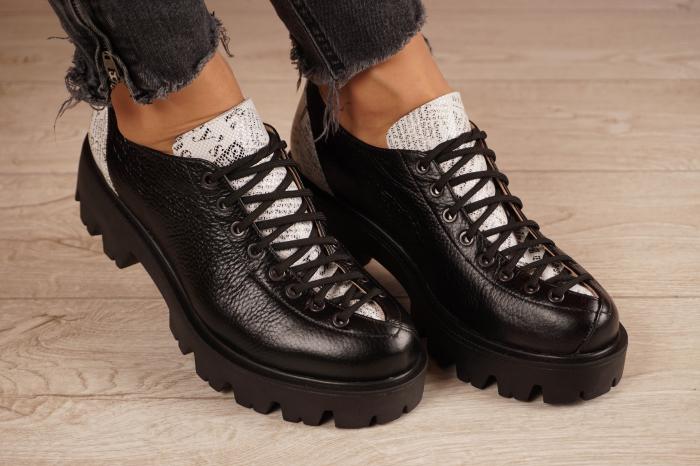 Pantofi dama din piele naturala neagra MSPD60120-20 [0]