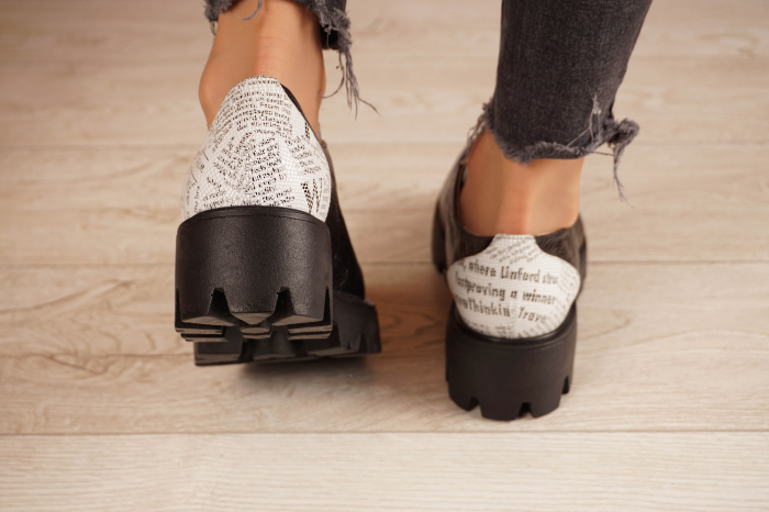 Pantofi dama din piele naturala neagra MSPD60120-20 [4]