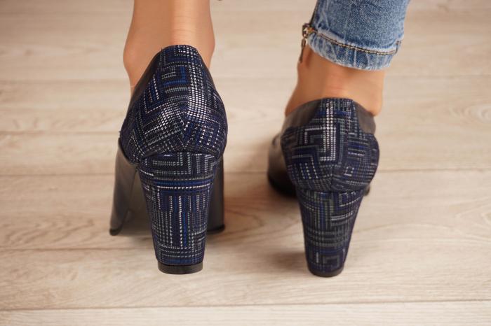Pantofi dama din piele naturala bleumaren MSPD50520-1-20 [3]