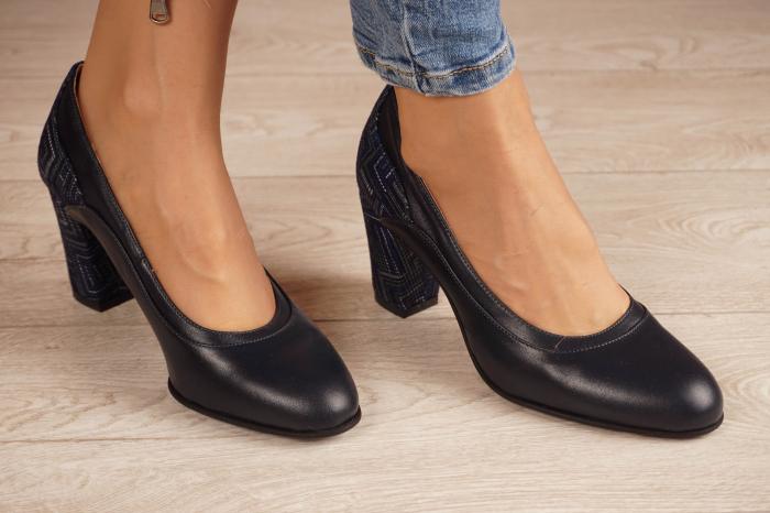 Pantofi dama din piele naturala bleumaren MSPD50520-1-20 [0]