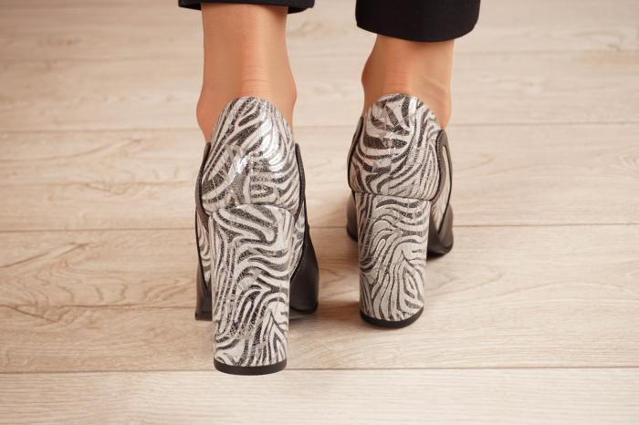 Pantofi dama din piele naturala neagra MSPD54818-1-20 [3]