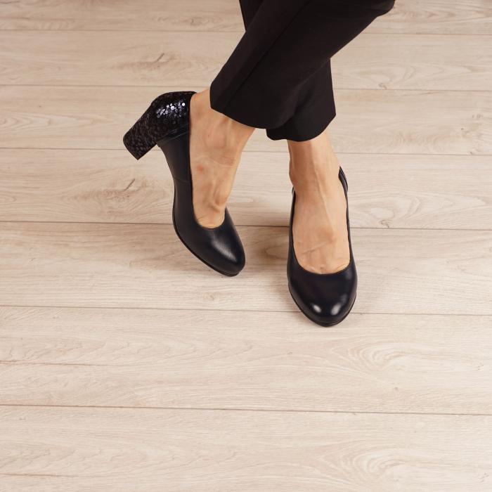 Pantofi dama din piele naturala bleumaren MSPD58119-1-20 [1]