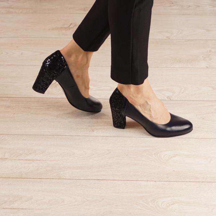 Pantofi dama din piele naturala bleumaren MSPD58119-1-20 [0]