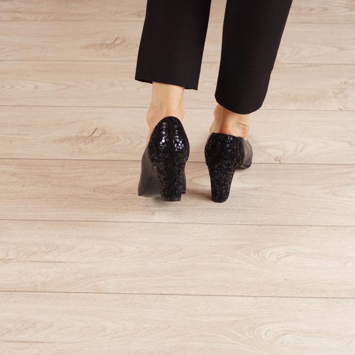 Pantofi dama din piele naturala bleumaren MSPD58119-1-20 [3]