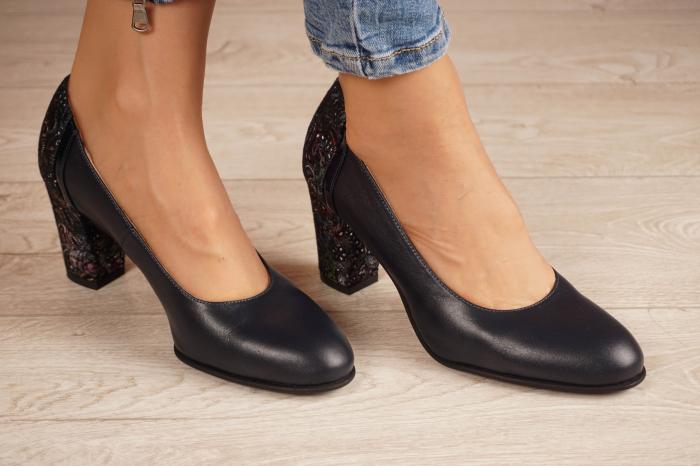 Pantofi dama din piele naturala bleumaren MSPD58119-2-20 0
