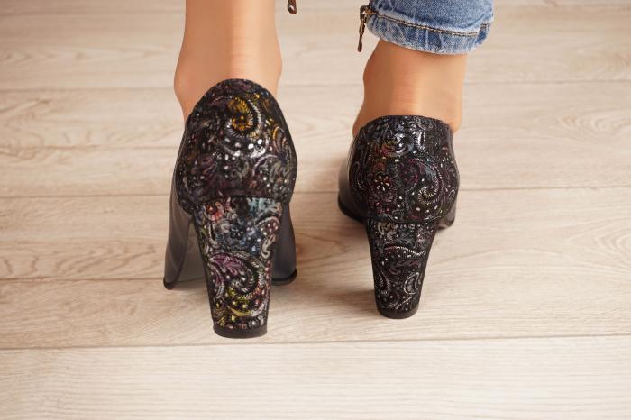Pantofi dama din piele naturala bleumaren MSPD58119-2-20 3