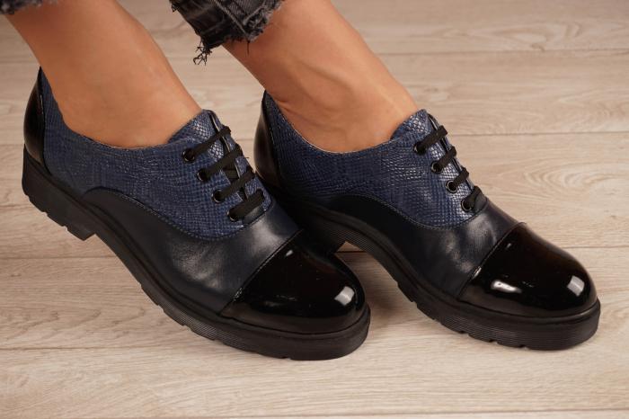 Pantofi dama din piele naturala bleumaren MSPD59820-21 [0]