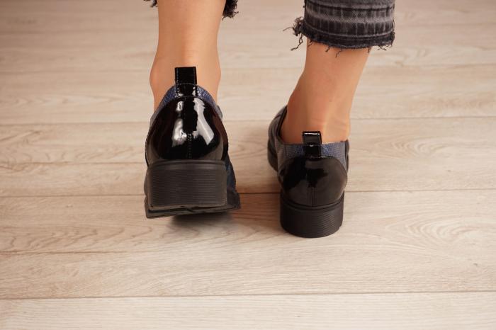 Pantofi dama din piele naturala bleumaren MSPD59820-21 [4]