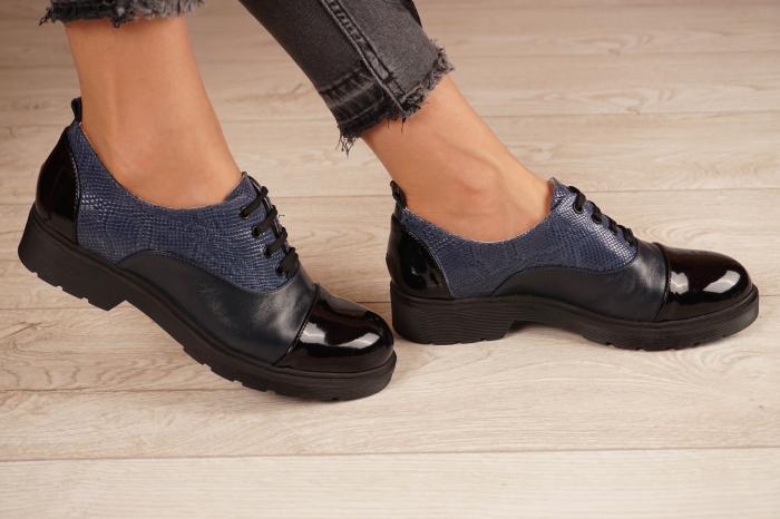 Pantofi dama din piele naturala bleumaren MSPD59820-21 [2]