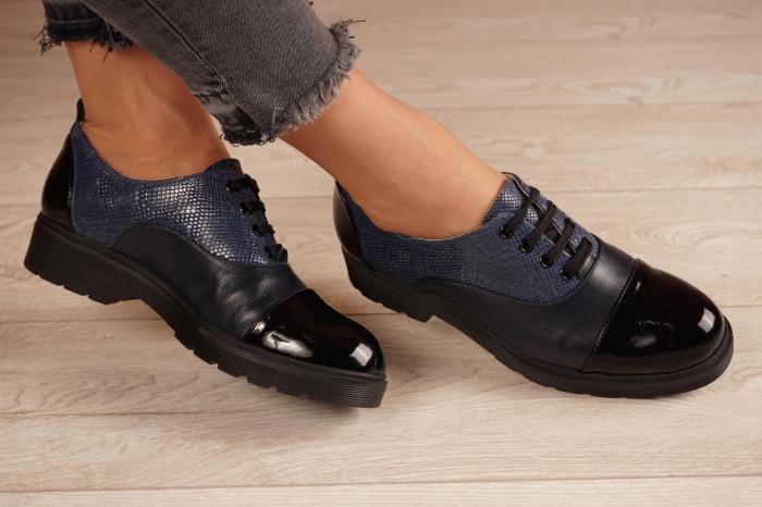 Pantofi dama din piele naturala bleumaren MSPD59820-21 [1]