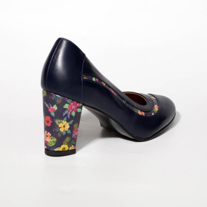 Pantofi dama din piele naturala bleumaren MSPD58019-19 [1]