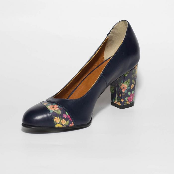 Pantofi dama din piele naturala bleumaren MSPD58019-19 [2]