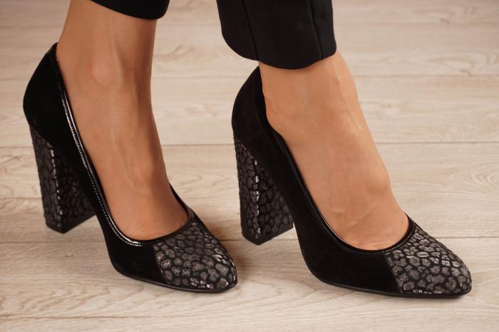 Pantofi dama din piele naturala camoscio neagra MSPD51420-1-20 [0]