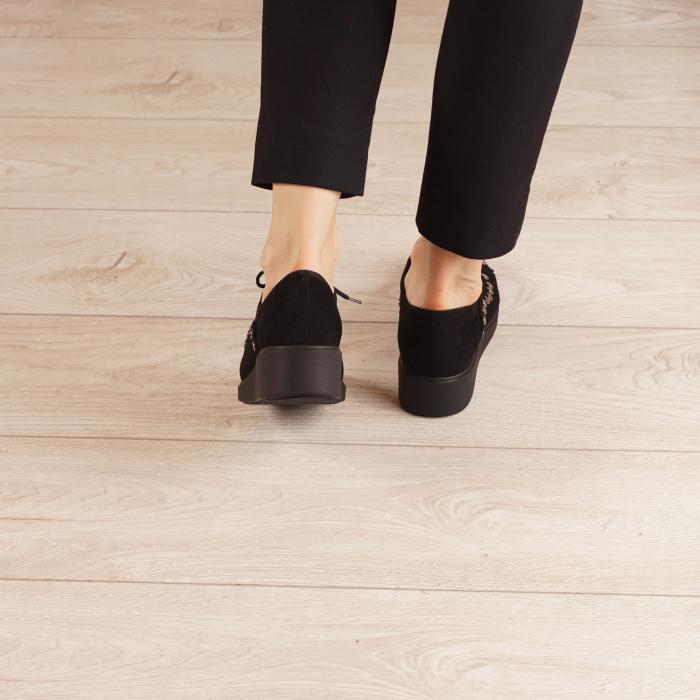 Pantofi dama din piele naturala camoscio negru MSPD56520-1-20 [3]