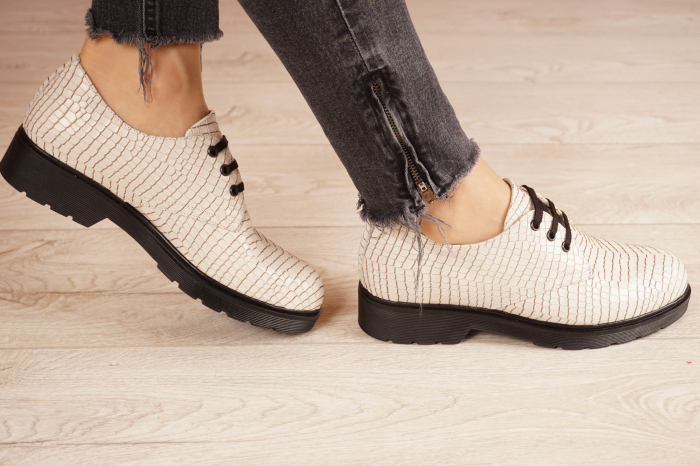Pantofi dama din piele naturala croco MSPD55320-1-21 [2]