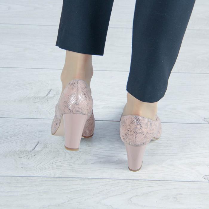 Pantofi dama din piele naturala cu imprimeu MSPD190-23-20 [2]