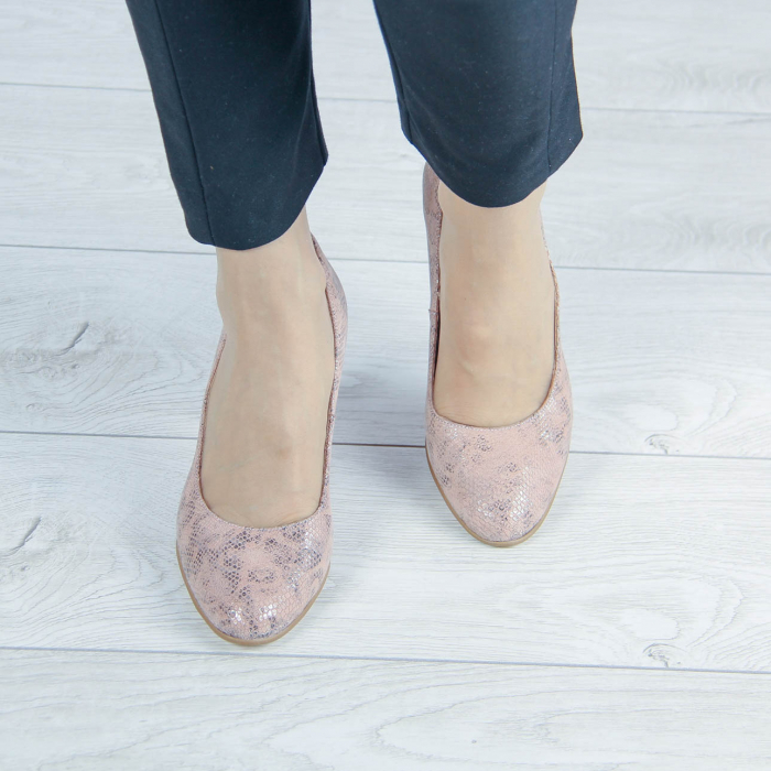 Pantofi dama din piele naturala cu imprimeu MSPD190-23-20 [1]