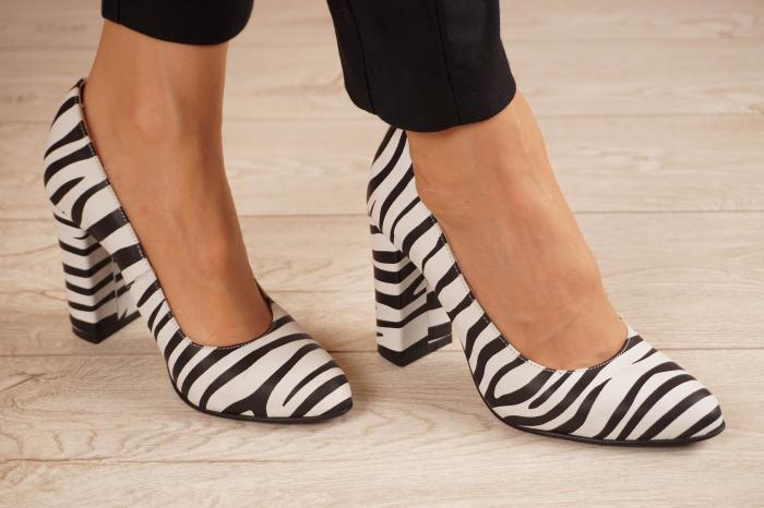 Pantofi dama din piele naturala cu imprimeu MSPD190-26-20 [0]