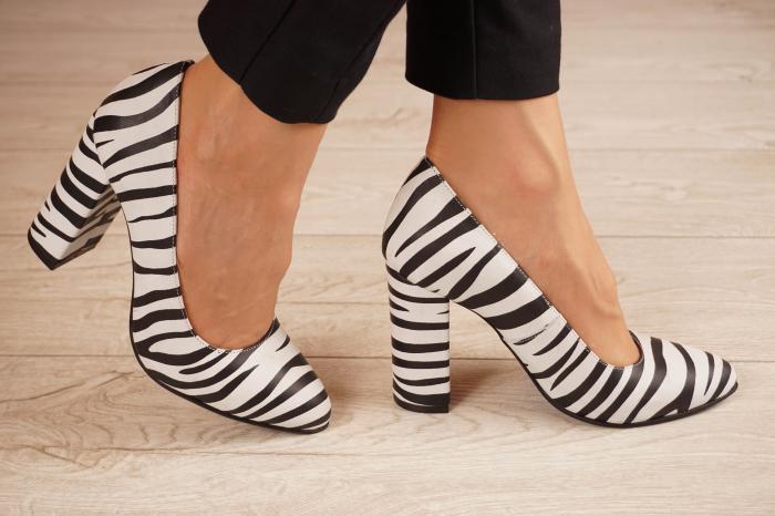 Pantofi dama din piele naturala cu imprimeu MSPD190-26-20 [1]