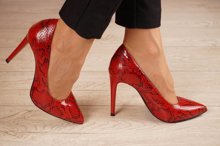 Pantofi dama din piele naturala cu imprimeu MSPD190-28-20 [1]