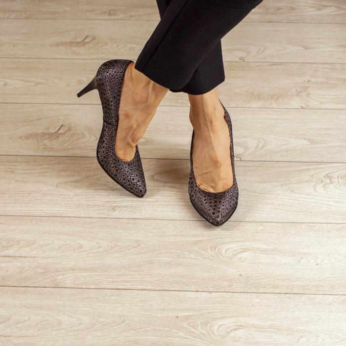 Pantofi dama din piele naturala cu imprimeu MSPD190-3-20 [1]