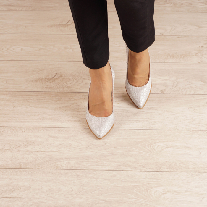Pantofi dama din piele naturala cu imprimeu MSPD190-31-20 [2]
