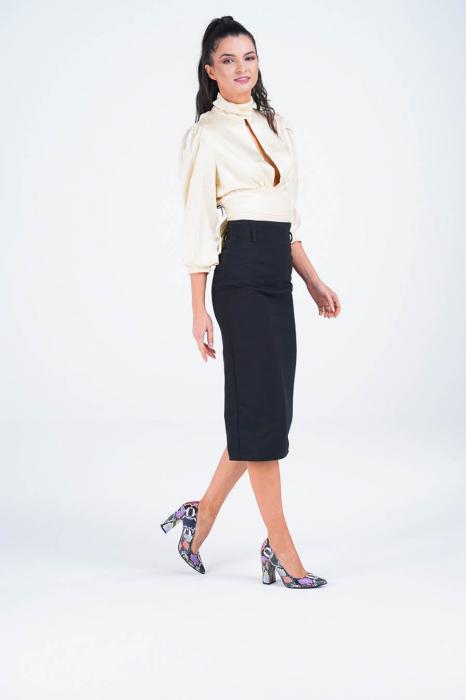 Pantofi dama din piele naturala cu imprimeu MSPD190-38-20 [5]