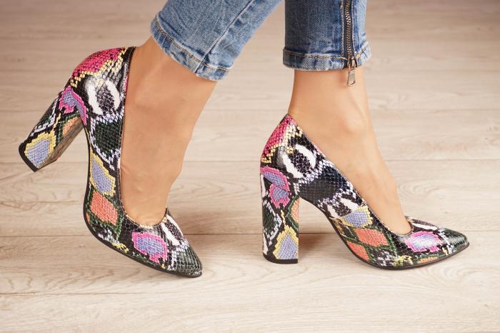Pantofi dama din piele naturala cu imprimeu MSPD190-38-20 [1]