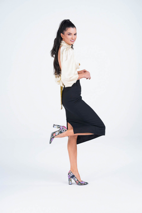 Pantofi dama din piele naturala cu imprimeu MSPD190-38-20 [4]