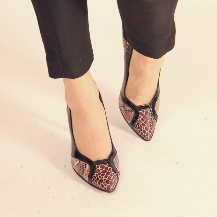 Pantofi dama din piele naturala cu imprimeu MSPD50920-20 [1]