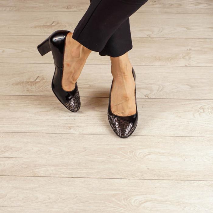 Pantofi dama din piele naturala cu imprimeu MSPD52020-20 [1]
