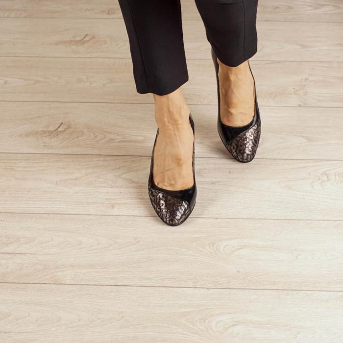 Pantofi dama din piele naturala cu imprimeu MSPD52020-20 [2]